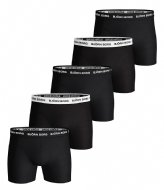 Björn Borg Shorts Sammy Solid Essential 5 Pack Blacker (90012)