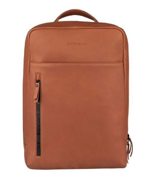 Burkely Laptop rugzak Rain Riley Backpack 15.6 Inch Corroded Cognac (24)
