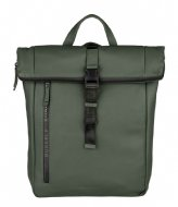 Burkely Rain Riley Backpack Rolltop 14 Inch Oil Green (74)