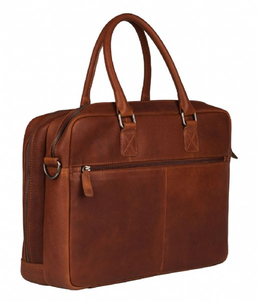 Burkely Laptop schoudertas Burkely Antique Avery Worker 15.6 Inch cognac (24)