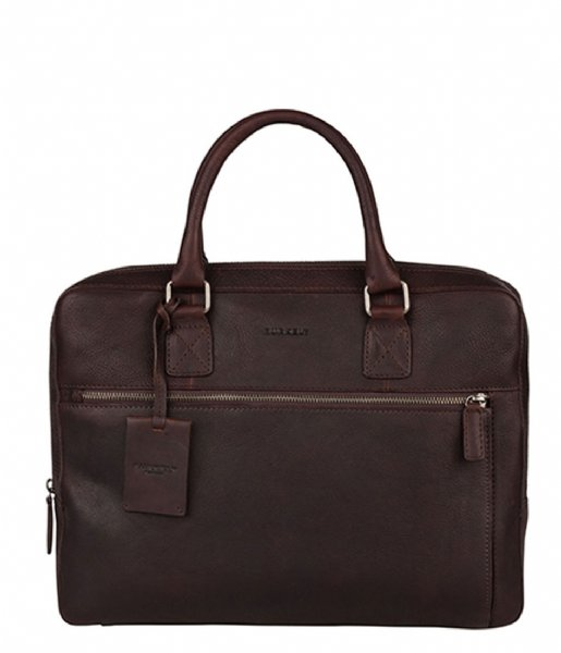 Burkely Laptop schoudertas Burkely Antique Avery Laptopbag 13.3 Inch Bruin (20)