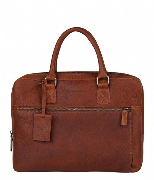 Burkely Laptop schoudertas Burkely Antique Avery Laptopbag 13.3 Inch cognac (24)