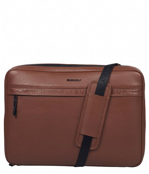 Burkely Laptop sleeve Bold Bobby Sleeve Crossover 15.6 Inch Woody Cognac