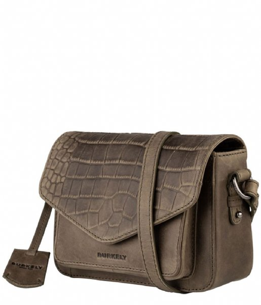 Burkely Crossbodytas BURKELY Croco Cody Crossover M dark green (74)