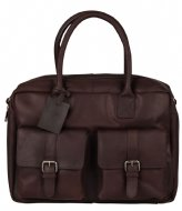 Burkely VINTAGE Finn Worker Laptop Bag 14 Inch dark brown (20)