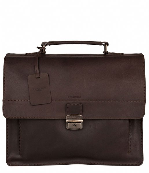 Burkely Handtas Vintage Scott Briefcase 2-Comp dark brown (20)