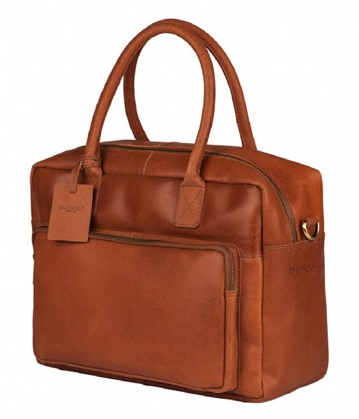 Burkely Laptop schoudertas Vintage Mitch Worker 14 Inch cognac (24)