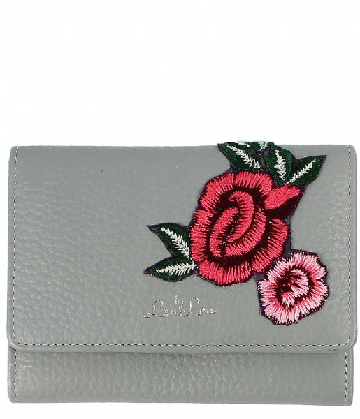 adce8e3a33d Wallet Wild Roses grey (003) LouLou Essentiels | The Little Green Bag