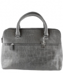 by LouLou Vintage Croco Diaper Bag grey