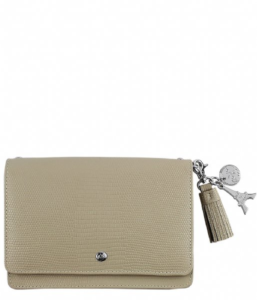 LouLou Essentiels Crossbodytas Bag Lovely Lizard sand
