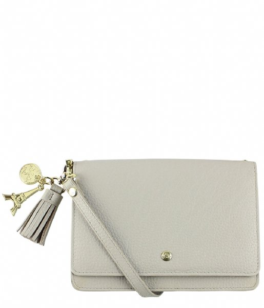 LouLou Essentiels Crossbodytas Bag Beau Veau light grey