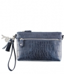 LouLou Essentiels Clutches Bag Vintage Croco Blauw