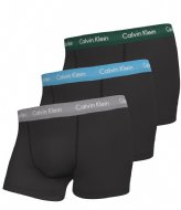 Calvin Klein Trunk 3pk B-Jade Sea/Sky High/Sleek Silver (M9F)