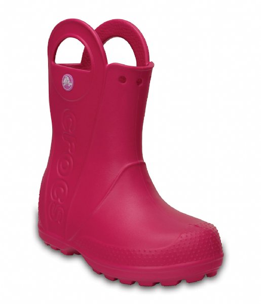Crocs Regenlaarzen Handle It Rain Boot Kids Candy pink (6X0)