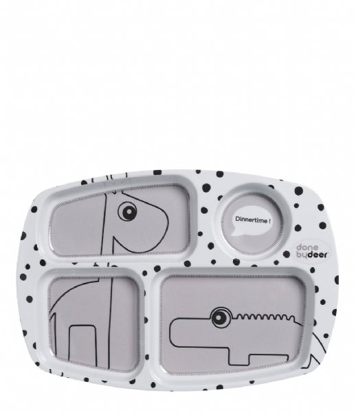 Done by Deer Baby Accessoire Compartment Plate Happy Dots Grey (10564)