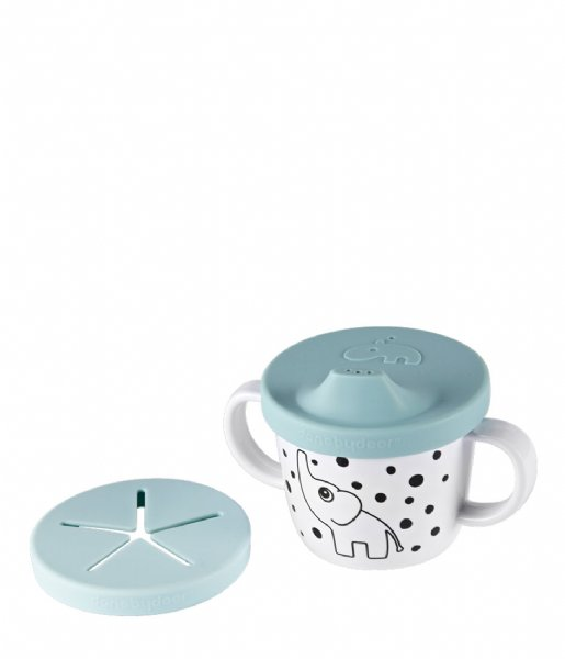 Done by Deer Baby Accessoire Silicone Spout and Snack Cup Elphee Blue (1998652)