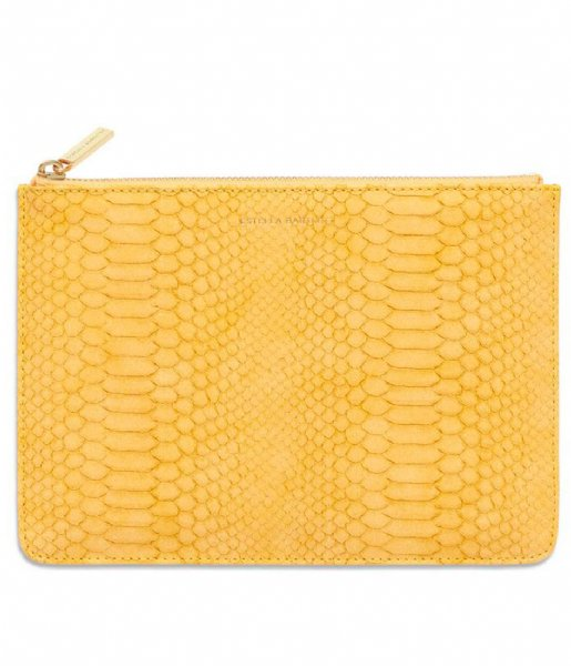 Estella Bartlett Clutch Medium Pouch Snake mustard snake (EBP3626)