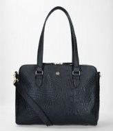 FMME Charlotte Laptop Business Bag Croco 13.3 Inch black (001)