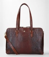 FMME Charlotte Laptop Business Bag Croco 13.3 Inch brown (021)