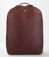 FMME Claire Laptop Backpack Croco 13.3 Inch brown (021)