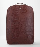 FMME Claire Laptop Backpack Croco 15.6 Inch brown (021)