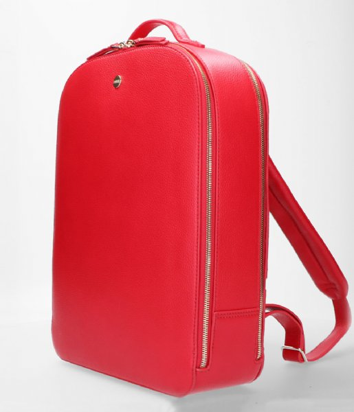 FMME Dagrugzak Claire Laptop Backpack Grain 15.6 Inch red (032)