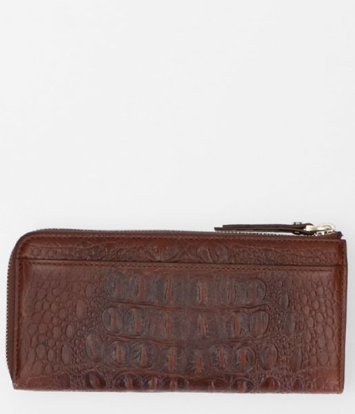 FMME Ritsportemonnee Wallet Large Croco brown (021)
