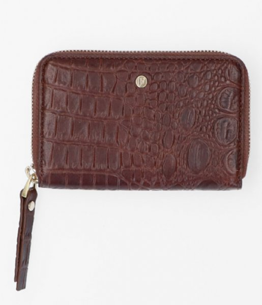 FMME Ritsportemonnee Wallet Small Croco brown (021)