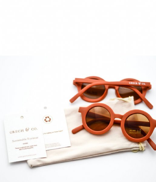 Grech and Co Zonnebril Sustainable Kids Sunglasses 18 months - 10 years rust