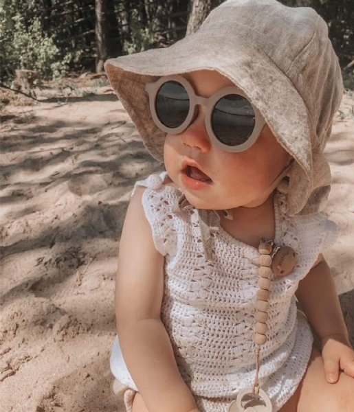 Grech and Co Zonnebril Sustainable Kids Sunglasses 18 months - 10 years stone