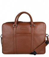 Hismanners Bryce Laptopbag Business 16 inch RFID Cognac