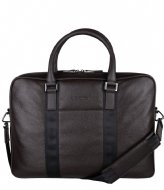 Hismanners Reed Laptopbag Slim 16 inch RFID Dark Oak