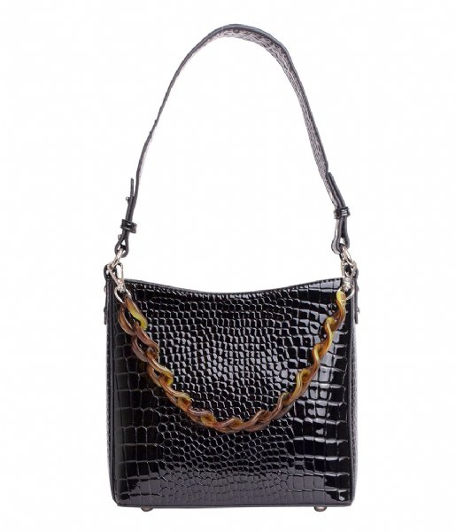 HVISK Handtas Amble Croco Small Black (009)