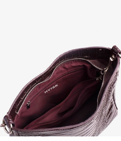 HVISK Handtas Amble Croco dark burgundy (085)