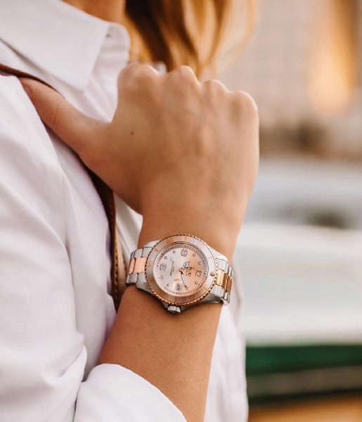 Ice-Watch Horloge ICE Steel 40 mm Silver Sunset Rose-Gold