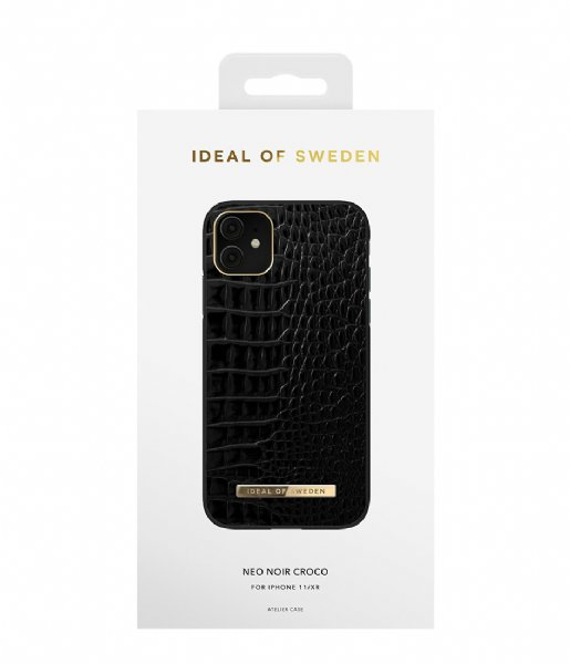 iDeal of Sweden Smartphone cover Atelier Case Entry iPhone 11/XR Neo Noir Croco (IDACAW20-1961-236)