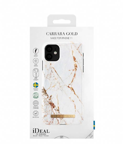 iDeal of Sweden Smartphone cover Fashion Case iPhone 11/XR Carrara Gold (IDFCA16-I1961-46)