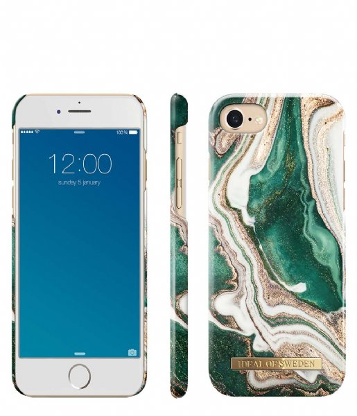 iDeal of Sweden Smartphone cover Fashion Case iPhone 8/7/6/6s Golden Jade Marble (IDFCAW18-I7-98)