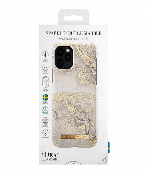 iDeal of Sweden Smartphone cover Fashion Case iPhone 11 Pro/XS/X Sparkle Greige Marble (IDFCSS19-I1958-121)