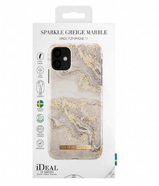 iDeal of Sweden Smartphone cover Fashion Case iPhone 11/XR Sparkle Greige Marble (IDFCSS19-I1961-121)