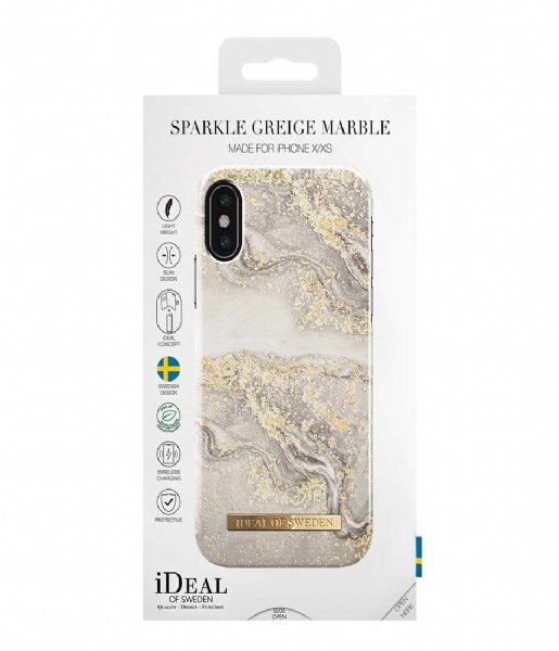 iDeal of Sweden Smartphone cover Fashion Case iPhone X/XS Sparkle Greige Marble (IDFCSS19-IXS-121)