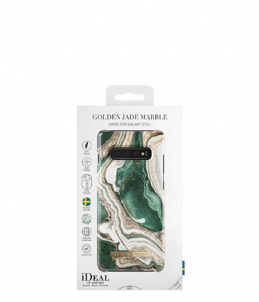 iDeal of Sweden Smartphone cover Fashion Case Galaxy S10+ Golden Jade Marble (IDFCAW18-S10P-98)