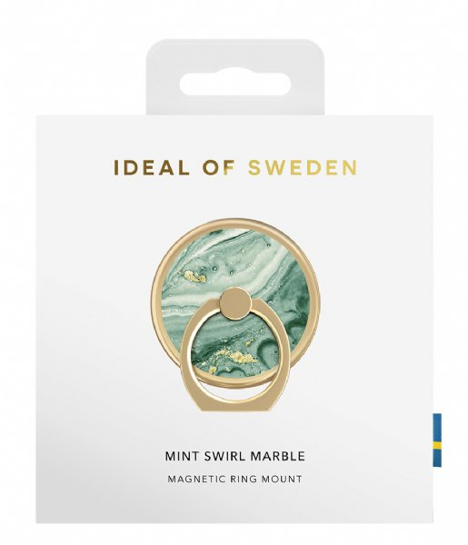 iDeal of Sweden Smartphone cover Magnetic Ring Mount Mint swirl marble (IDMRMSS21-258)