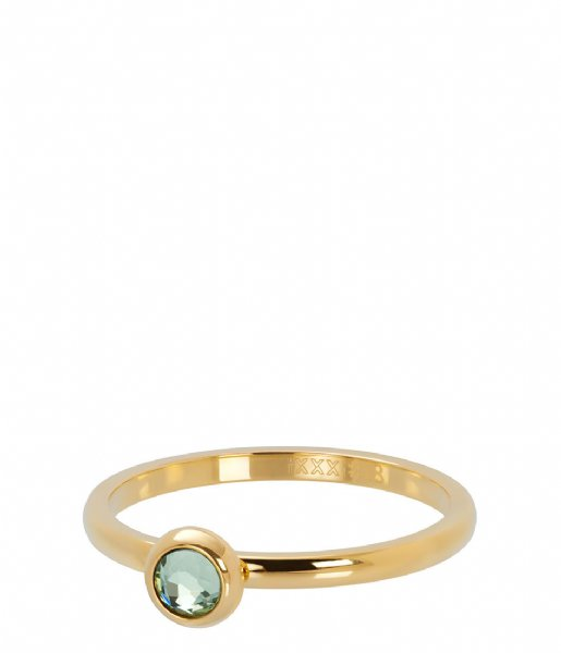 iXXXi Ring 1 Zirconia light green Gold colored (01)