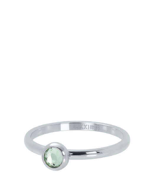 iXXXi Ring 1 Zirconia light green Silver colored (03)