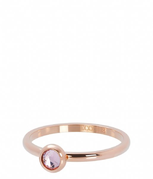 iXXXi Ring 1 Zirconia pink Rosé colored (02)