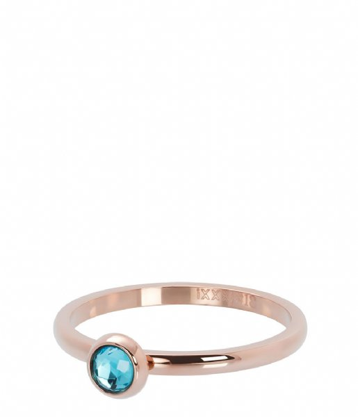 iXXXi Ring 1 Zirconia water blue Rosé colored (02)