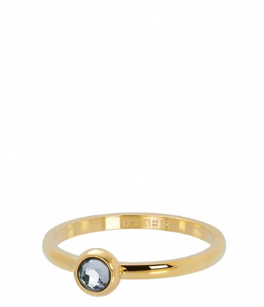 iXXXi Ring 1 Zirconia white Gold colored (01)