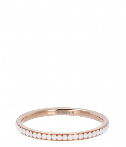 iXXXi Ring White stone Rosé colored (02)