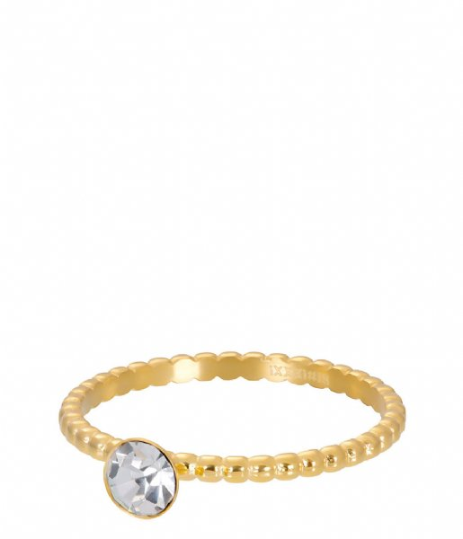 iXXXi Ring Ball With Crystal Stone Gold colored (01)